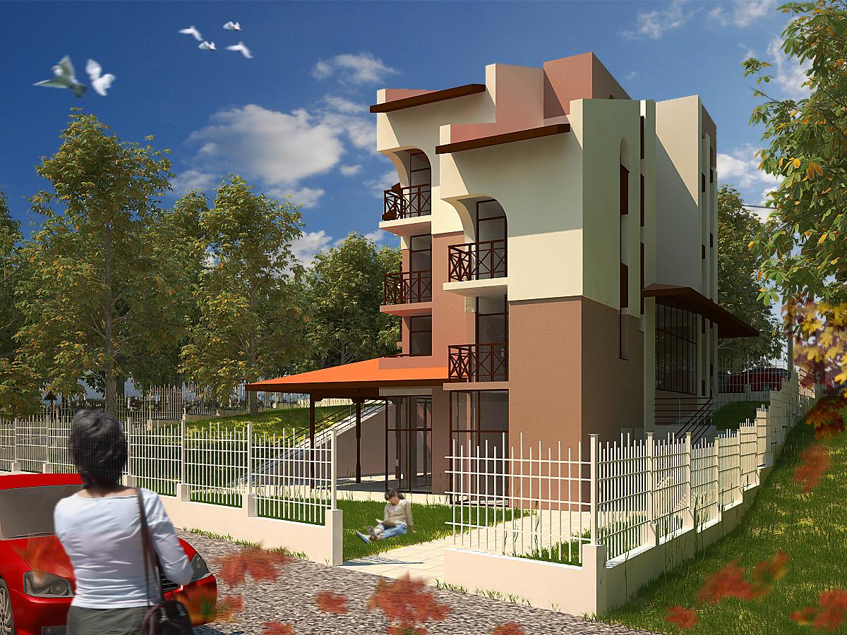 3D проект, хотел, с. Заселе